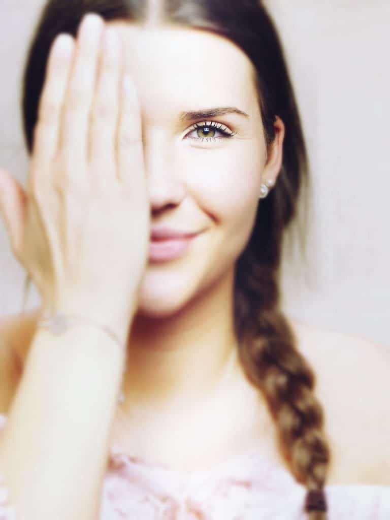 face, hand, eyes